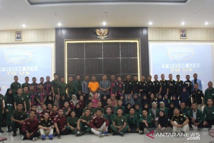 Gathering SEMA Polbangtan Medan dengan pelatih kedisiplinan