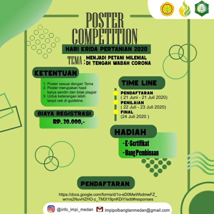 [[IMPI MEDAN PROUDLY PRESENT]] POSTER COMPETITION : HARI KRIDA PERTANIAN 2020