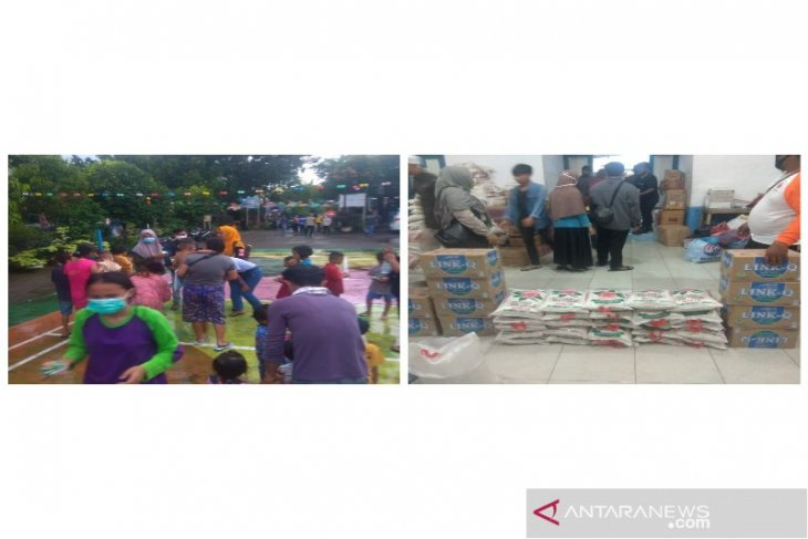 Pramuka Polbangtan Medan bantu korban banjir