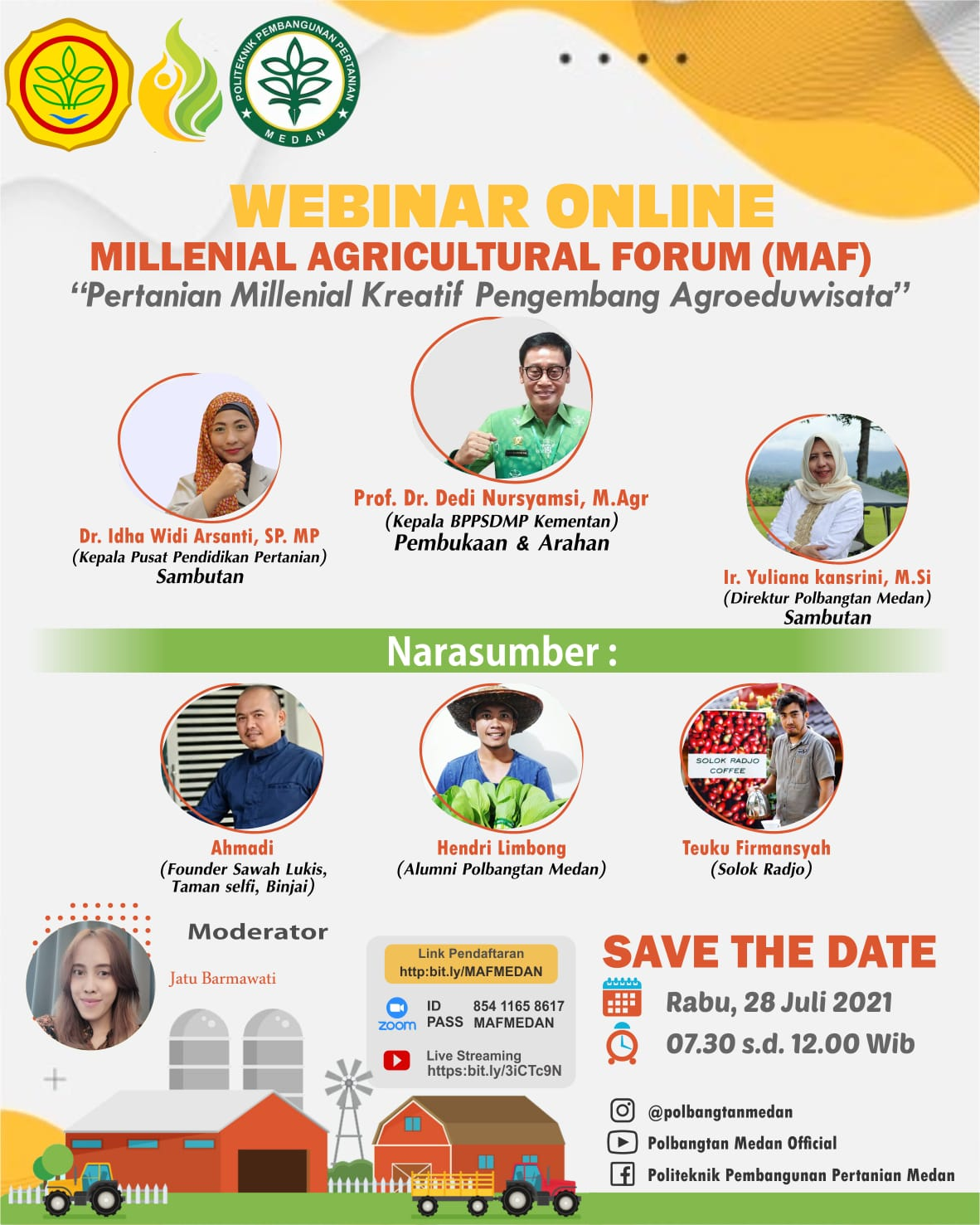 Webinar Online : Millenial Agricultural Forum