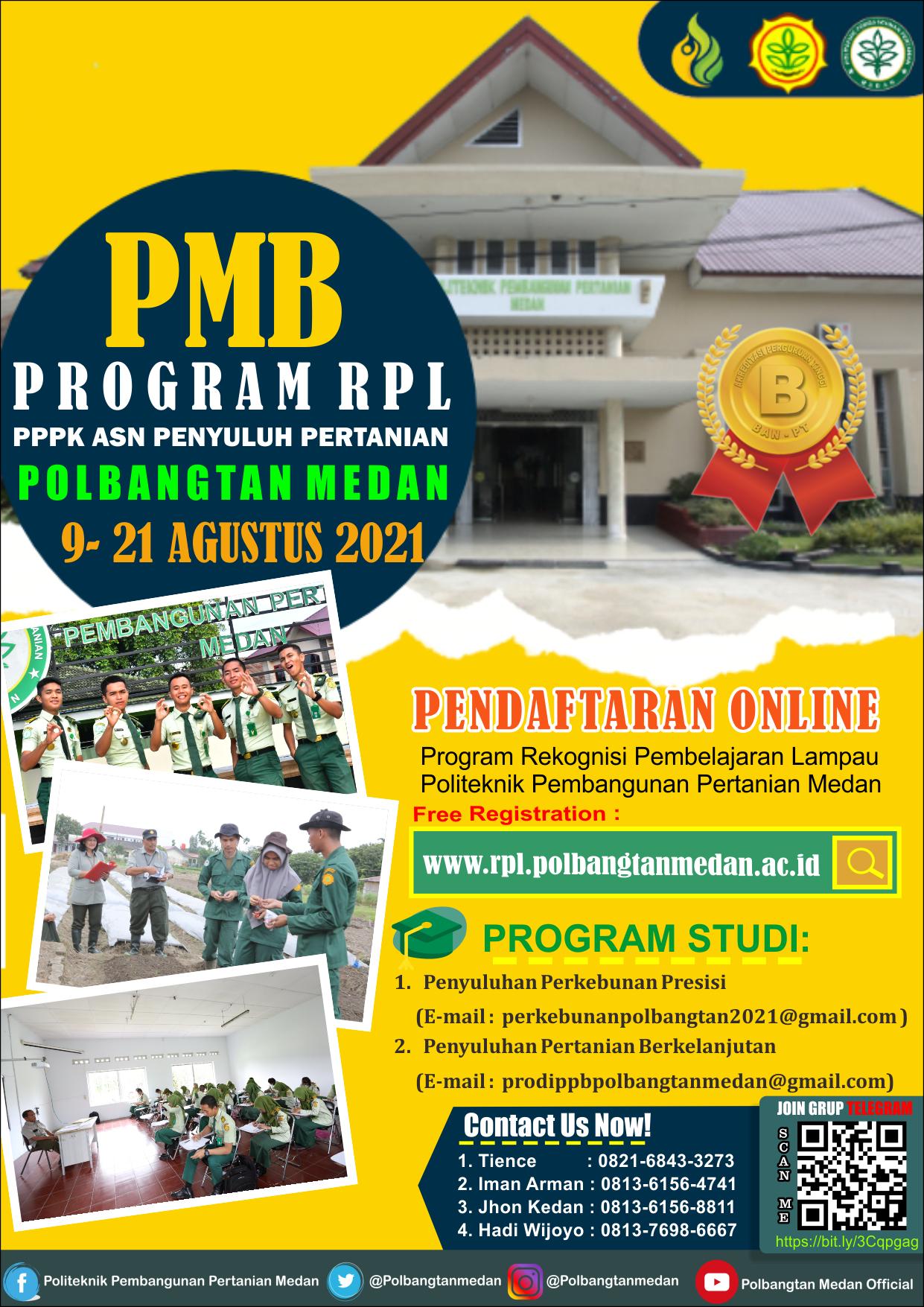 PMB Program RPL PPPK ASN Penyuluh Pertanian Polbangtan Medan